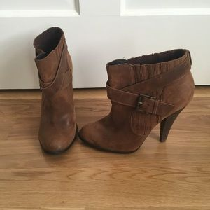 Aldo Ideleena Distressed Brown Heel Boots
